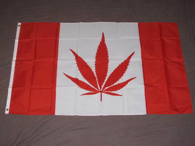 MARIJUANA LEAF CANADA FLAG 3X5 CANADIAN POT WEED F301