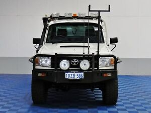 2008 Toyota Landcruiser VDJ79R Workmate (4x4) White 5 Speed Manual Cab Chassis East Rockingham Rockingham Area Preview