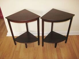 Pair Of Small And Attractive Early 20th Century Mahogany Corner Stands. OFFERS WELCOME
