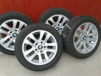 BMW (4) Rims with Bridgestone Tires 205/55R16 91H