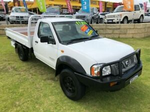 2006 Nissan Navara White 5 Speed Manual Trayback Wangara Wanneroo Area Preview