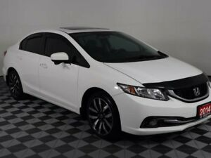 2014 Honda Civic Sedan Touring w/Heated Leather Seats-Back up Ca