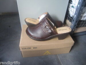 womens COLORADO OPANKA leather clog mules shoes SZ 41-10 NEW!