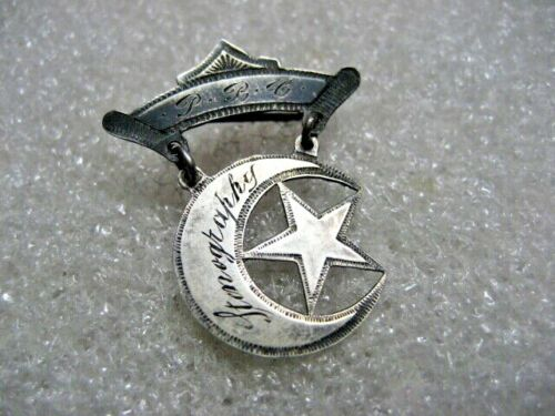 /Vintage Badge Some Islamic Silver Pin