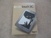 Kindle Touch 3G and WiFi, Kindle Burgandy Leather Case with LED light, Boxed, Excellent Cond