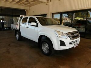 2018 Isuzu D-MAX MY18 SX Crew Cab White 6 Speed Sports Automatic Cab Chassis Menzies Mt Isa City Preview
