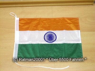 Fahnen Flagge Indien Bootsfahne Tischwimpel - 30 x 40 cm