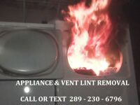 DRYER LINT REMOVAL & DRYER VENT CLEANING BEST RATES - FIRE !!!!!