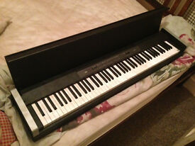 Black Korg LP350 Digital Piano with Free Stool