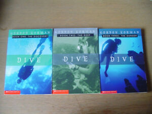 Gordon Korman DIVE trilogy-children's/young adult- London Ontario image 1