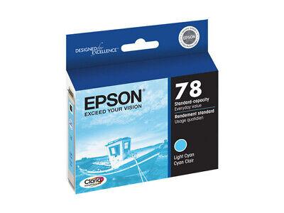 New Epson 78 Series Light Cyan Ink Cartridge T0785 GENUINE