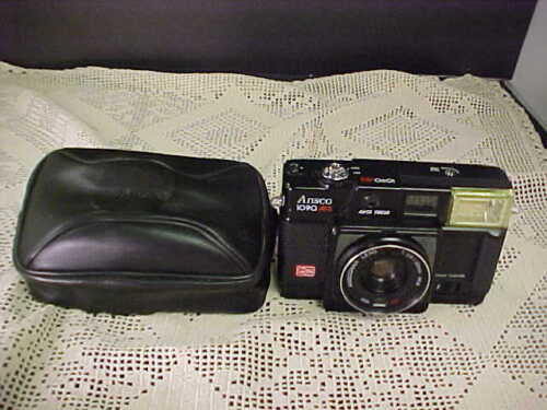 Ansco 1090AFS Film Camera With Ansconar Lens 1:3.8/38mm Auto Vocus With Case
