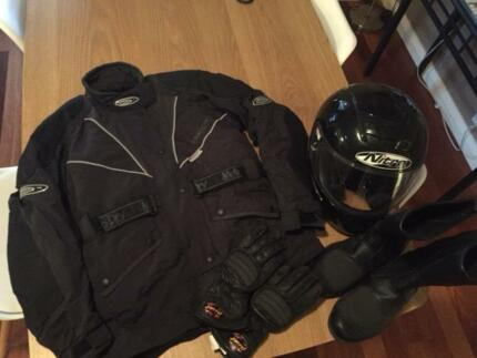 Ladies Motorbike Helmet, Jacket, Gloves & Boots