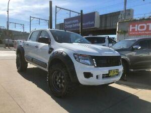 2014 Ford Ranger PX XL Hi-Rider White Sports Automatic Utility