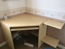 Office desk and storage units
