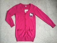 HELLO KITTY Cardigan Age 8 yrs NEW with tags
