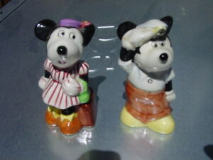 Steamboat Willie And Minnie Salt & Pepper