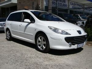 2007 Peugeot 307 MY06 Upgrade XS HDI 1.6 Touring White 5 Speed Manual Wagon Wangara Wanneroo Area Preview