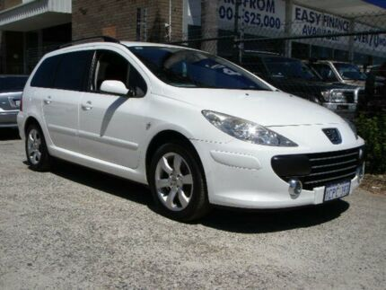 2007 Peugeot 307 MY06 Upgrade XS HDI 1.6 Touring White 5 Speed Manual Wagon Wangara Wanneroo Area Preview