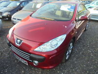 Peugeot 307 2.0 16V S COUPE CABRIOLET 138BHP (red) 2005