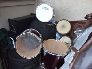 8 Piece Drum SetFull set, cases included- - -will deliver!!!