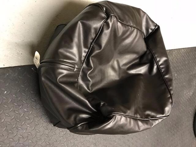 BROWN FAUX LEATHER BEAN BAG - GREAT CONDITION