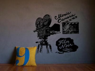Wall Art Vinyl Room Decor Sticker Decal Mural Movie Camera Film Reel Art bo2234 for sale  Shipping to India