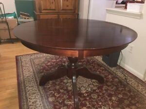 Solid Cherrywood dining table with leaf