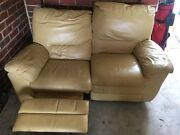 Yellow leather couches Blackburn North Whitehorse Area Preview