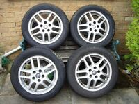 "16"" Vauxhall wheels with good tyres – set of four."