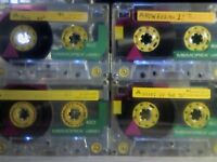 MEMOREX DBS1 / DBSI 60 (1991-1992) YELLOW ISSUE CASSETTE TAPES.