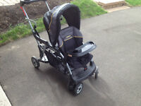 Sit and stand double stroller.