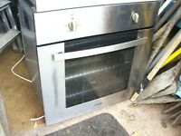 CURRY'S STAINLESS STEEL ELECTRIC BUILT IN OVEN FOR SPARES OR REPAIR