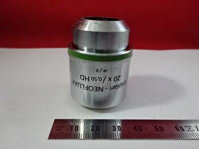 Zeiss Germany Objective Neofluar Hd 20x Epi Microscope Part Optics 98-44