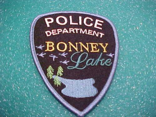 BONNEY LAKE WASHINGTON POLICE PATCH SHOULDER SIZE UNUSED TYPE 2