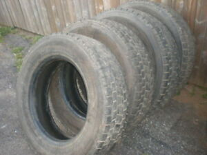 4 Truck Tires Traction Tread Goodyear 225-70-19.5