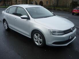 Volkswagen Jetta 1.6TDi 16V 105BHP SE BLUEMOTION TECHNOLOGY **Full Service History** (silver) 2012