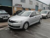 £2295 skoda rapid fastback 2014 1.2 petrol in silver long mot very good condition/runner px/welcome