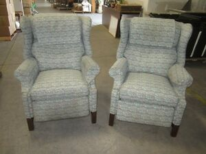 Matching wing back chairs - 6386