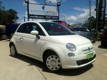 2013 Fiat 500 150 Pop Dualogic White 5 SPEED Semi Auto Hatchback Southport Gold Coast City Preview