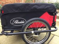 Skiiddii Lightweight Folding Bicycle Trailer - Black/Red, 100 kg carry capacity - AS new un used