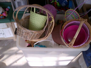 Various baskets & Easter baskets