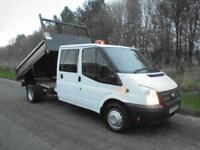 2014(14) Ford Transit T350 LWB D/C CREW CAB TIPPER, 125 Euro 5, FINANCE???