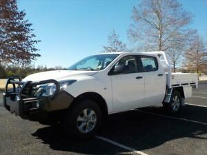 2019 Mazda BT-50 MY18 XT (4x4) (5Yr) Cool White 6 Speed Manual Dual Cab Chassis Armidale Armidale City Preview