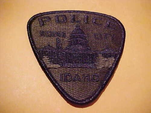 BOISE IDAHO POLICE PATCH SHOULDER SIZE UNUSED OD GREEN