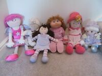 Collection of 6 soft bodied/ragdolls suitable for first dolls