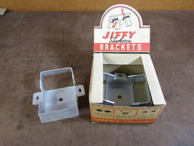 NOS Vintage Hardware Jiffy Saw horse Bracket Heavy Duty original display box USA