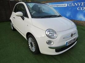 2013 Fiat 500 1.2 Lounge 3dr (start/stop) ONE OWNER.PAN ROOF.F/S