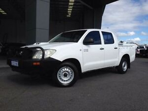 2010 Toyota Hilux KUN16R 09 Upgrade SR Glacier White 5 Speed Manual Dual Cab Pick-up Beckenham Gosnells Area Preview