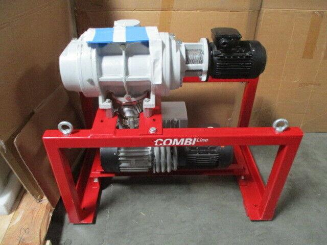 Pfeiffer Vacuum Pump CombiLine WU 412, Hena 100 & Okta 500 Roots Blower Pump